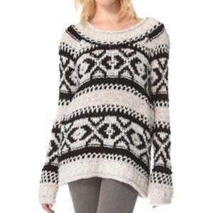 Free People Fair Isle Chunky Knit Sweater